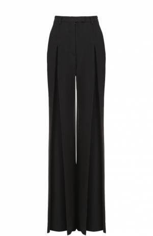 Широкие брюки с защипами и завышенной талией Elie Saab. Цвет: черный