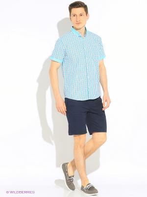 Рубашка Hazard. Цвет: бирюзовый