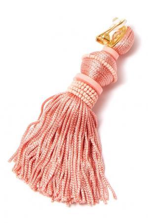 Розовые серьги-клипсы с кистями Oscar de la Renta. Цвет: multicolor