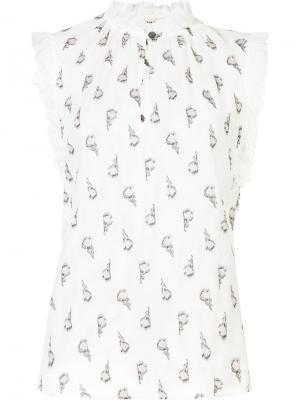 Блузка с цветочным принтом Rebecca Taylor. Цвет: белый