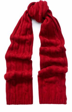 Шарф фактурной вязки из кашемира Kashja` Cashmere. Цвет: бордовый
