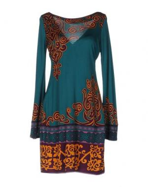 Короткое платье HALE BOB. Цвет: цвет морской волны