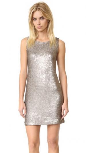 Свободное платье Penley с блестками BB Dakota. Цвет: коричневый