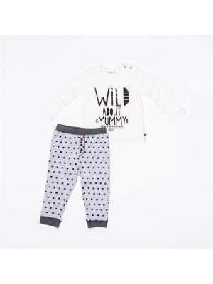 Комплект одежды BABALUNO. Цвет: кремовый, серый