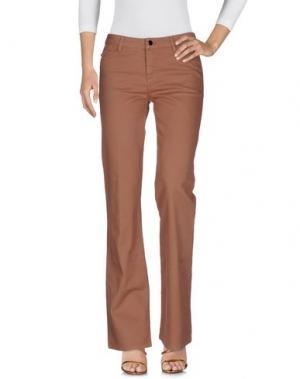 Джинсовые брюки VANESSA BRUNO ATHE'. Цвет: коричневый