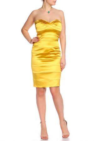 Платье Diva. Цвет: золотой