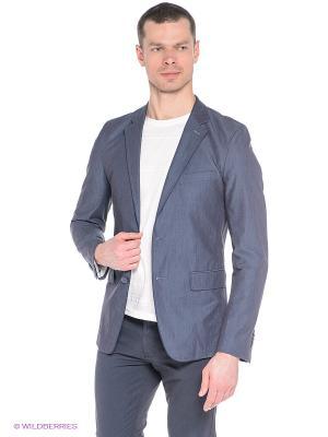 Пиджак Oodji. Цвет: темно-серый, синий