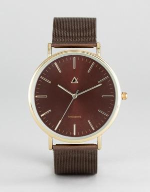 ASOS Часы с коричневым сетчатым браслетом. Цвет: коричневый