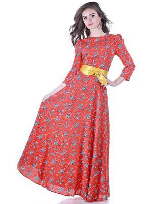 Платье OLIVEGREY. Цвет: красный, желтый