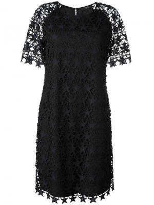 Платье с вышивкой Steffen Schraut. Цвет: чёрный