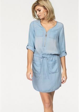 Джинсовое платье Laura Scott. Цвет: голубой варенка