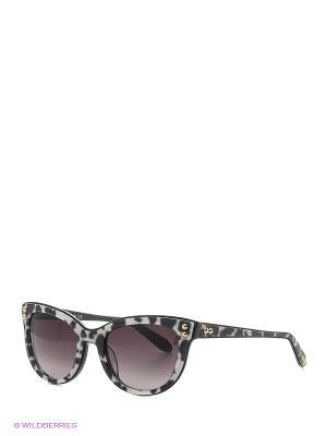 Солнцезащитные очки MO 723S 05 MOSCHINO. Цвет: черный, белый