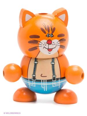Деревянная игрушка Играем вместе буратино кот. Цвет: оранжевый