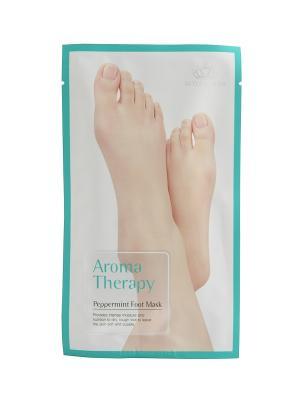 Носки увлажняющие  для ног Aromatherapy peppermint Royal Skin. Цвет: зеленый