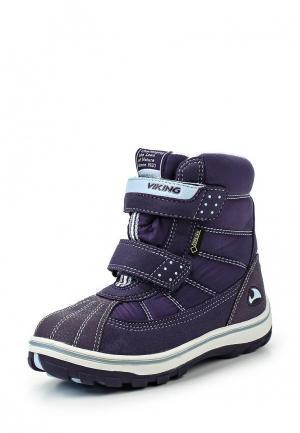 Ботинки Viking. Цвет: фиолетовый