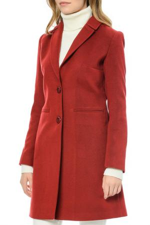 Пальто Dewberry. Цвет: красный