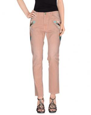 Джинсовые брюки SANDRINE ROSE. Цвет: телесный