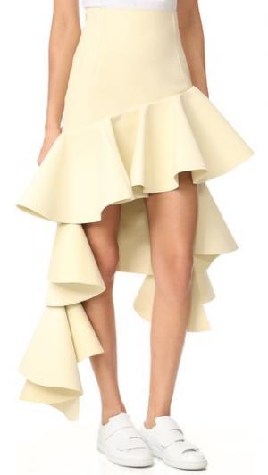 Многоуровневая юбка Jacquemus. Цвет: бежевый
