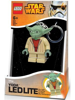 Брелок-фонарик для ключей LEGO Star Wars - Yoda (Йода). Цвет: зеленый, темно-бежевый