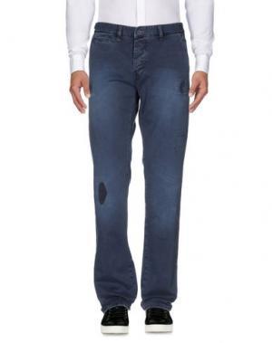 Повседневные брюки JFOUR. Цвет: темно-синий