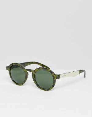 Mr Boho Зеленые круглые солнцезащитные очки Mr. Dalston. Цвет: зеленый