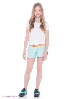 Шорты TEMPO RIVAL GFX SHORT YTH Nike. Цвет: бирюзовый, оранжевый