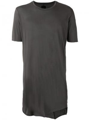 Удлиненная футболка Thom Krom. Цвет: серый