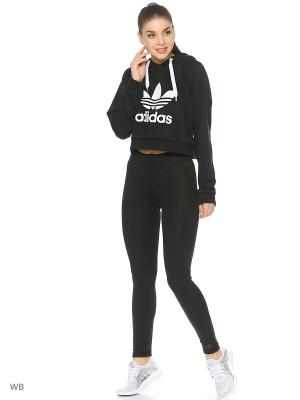 Худи Adidas. Цвет: черный