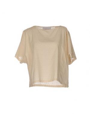 Блузка GOLD CASE. Цвет: бежевый
