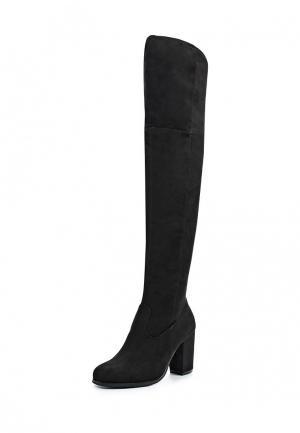 Ботфорты Style Shoes. Цвет: черный