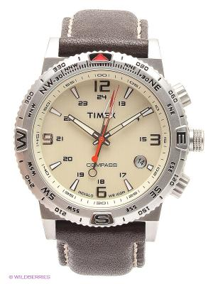 Часы TIMEX. Цвет: серебристый, коричневый