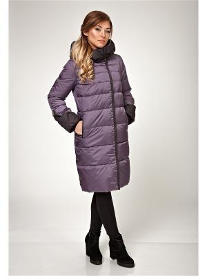 Стеганое пальто D`imma. Цвет: фиолетовый