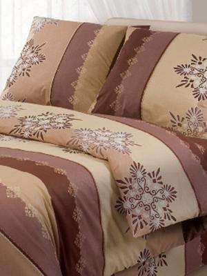 Комплект постельного белья Волшебная ночь. Цвет: бежевый, коричневый
