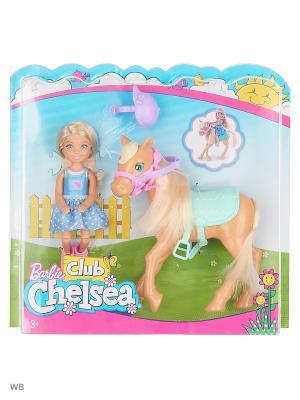 Кукла Челси и пони Barbie. Цвет: розовый