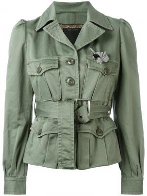 Куртка с поясом Marc Jacobs. Цвет: зелёный