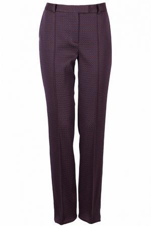 Прямые брюки с карманами Luisa Spagnoli. Цвет: бордовый