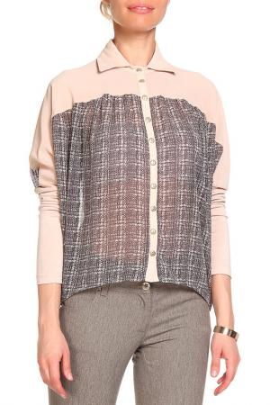 Блуза LEIDIRO. Цвет: серый, бежевый
