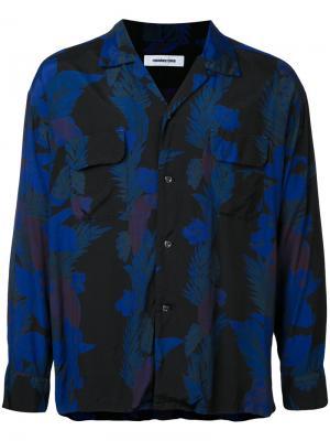 Рубашка с цветочым принтом monkey time. Цвет: синий
