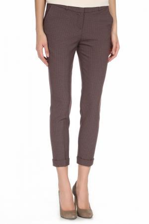 Укороченные брюки с 4-мя карманами YARMINA. Цвет: бордовый
