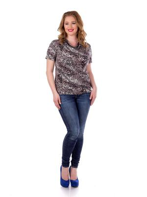 Блузка Liza Fashion. Цвет: серый