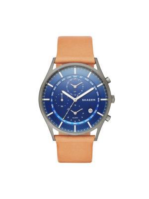 Часы SKAGEN. Цвет: оранжевый, синий, темно-серый