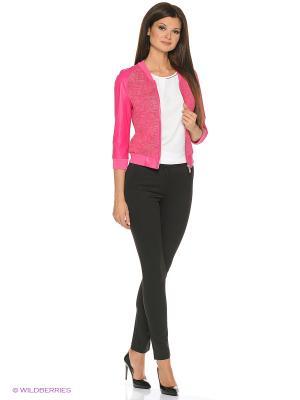 Кожаная куртка SUSSEX. Цвет: розовый