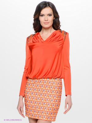 Платье Verezo. Цвет: оранжевый