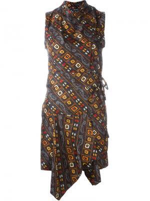 Платье Tabby с запахом Isabel Marant. Цвет: чёрный