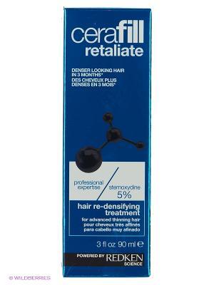 Крем-уход для роста волос, несмываемый, КЕРАФИЛЛ СТЕМОКСИДИН 5%, 90мл REDKEN. Цвет: белый