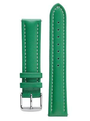 Гипоалергенный ремешок для часов из кожи теленка. Ширина 20 мм Signature. Цвет: зеленый