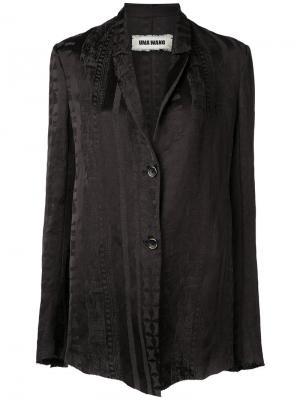 Легкий пиджак Uma Wang. Цвет: чёрный
