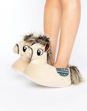 Loungeable Слиперы в виде пони Penny. Цвет: коричневый