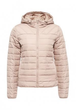 Куртка утепленная Only. Цвет: бежевый