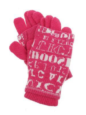 Перчатки Olere. Цвет: розовый, белый
